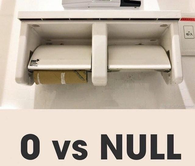 0 vs. null