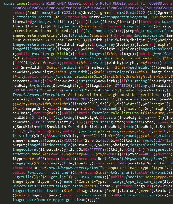 Minifikovaný kód